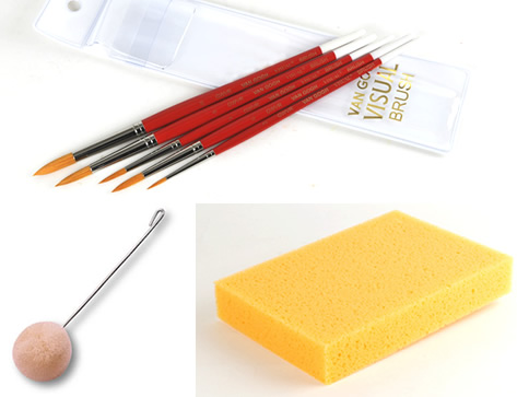 Dyeing Tools, Brushes