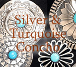 Silver & Turquoise Concho