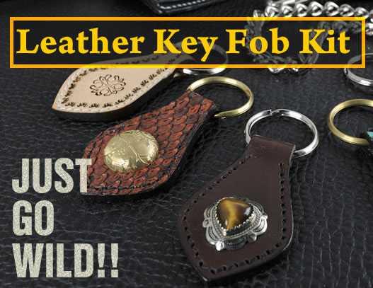 Leather Key Fob Kit