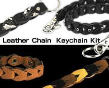 Leather Chain Keychain Kit