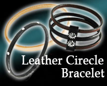 Leather Cirecle Bracelet