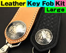 Leather Key Fob Kit - Large