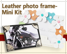 Leather photo frame - Mini Kit