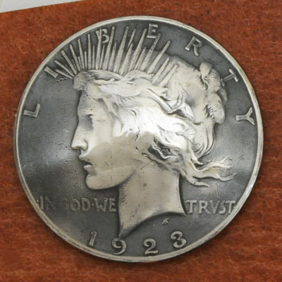 Old Silver Peace Dollar In Or After 1922 - Condition: VG