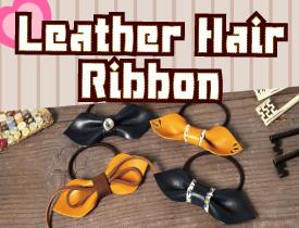 Leather Hair Ribbon