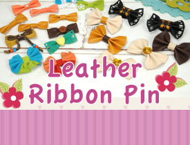Leather Ribbon Pin