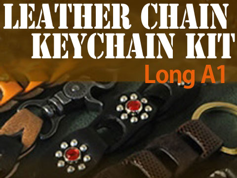 Leather Chain Keychain Kit - Long A1