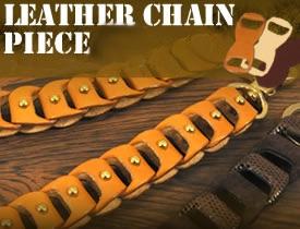 Leather Chain Piece  Head Piece <Round B1>