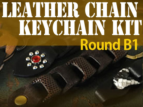 Leather Chain Keychain Kit - <Round B1>