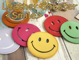 Leather  Coaster <Smile>