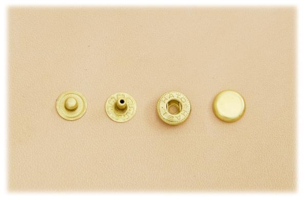 (B7)Spring Snap Fastener Solid Brass - Small