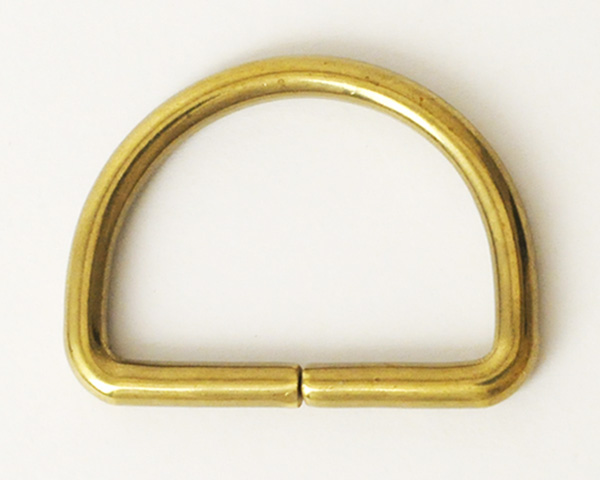 Solid Brass D-Ring - 24 mm