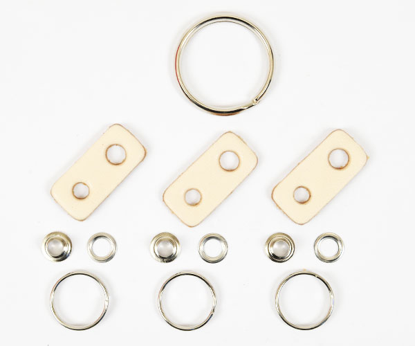 Leather Key Ring Kit - LC Tooling Leather Standard