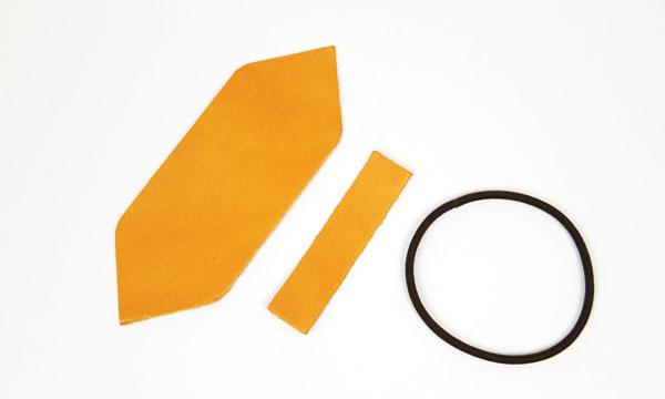 Leather Hair Ribbon kit - LC  Premium Dyed Leather Struck Through