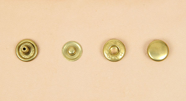 (B10) Spring Snap Fastener Solid Brass - Small