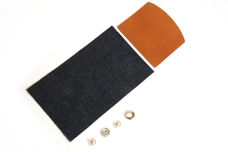 Okayama Denim x Leather <Coin Wallet Kit> - Leather Arizona