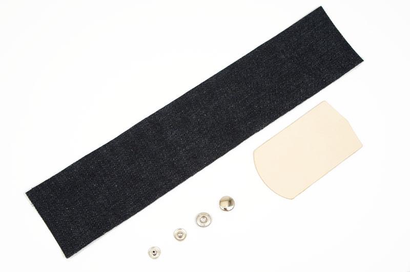 Okayama Denim & Leather Pen Case Kit - LC Tooling Leather Standard