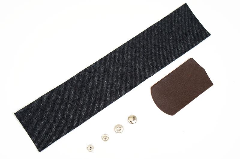 Okayama Denim & Leather Pen Case Kit - Leather Arizona