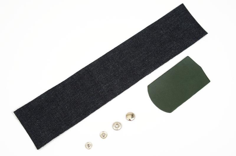 Okayama Denim & Leather Pen Case Kit - Tochigi Aniline Leather Classic