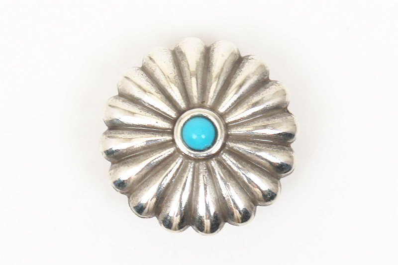 Metal Concho Round <25 mm>