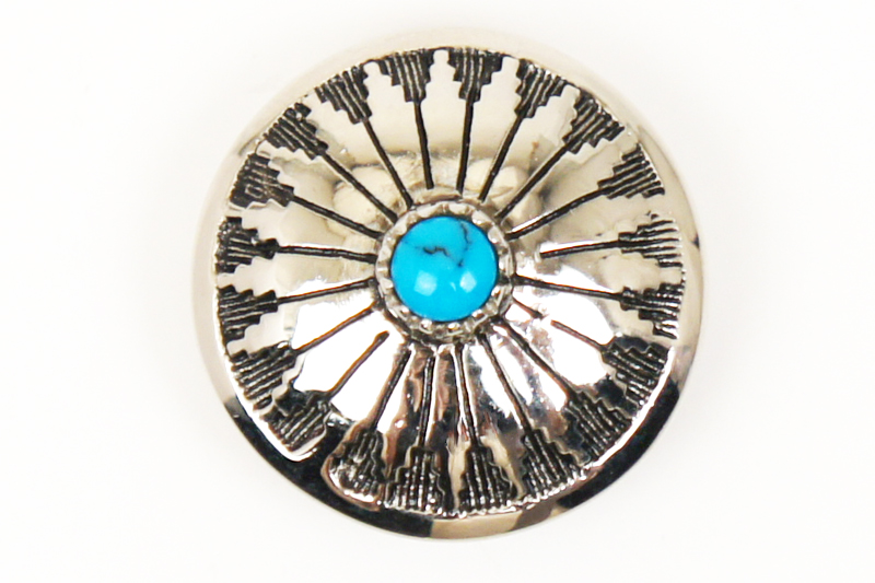 Stone Concho Turquoise <21 mm>