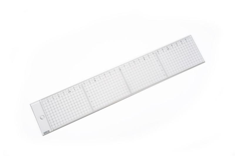 Clear Grid Ruler 30 cm