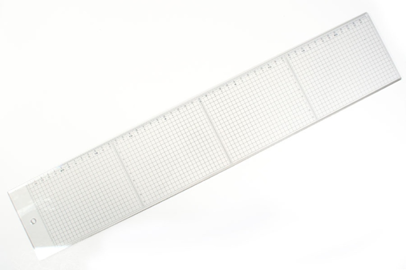 Clear Grid Ruler 50 cm