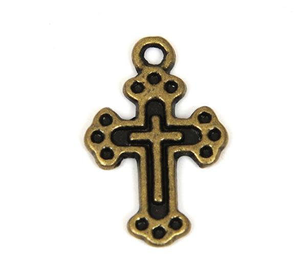 Pewter Charm - Cross