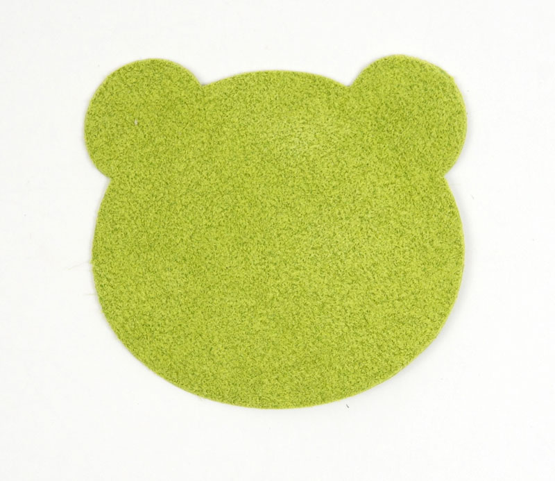 <Suede Leather>Animal Charm (LC Bear Head)