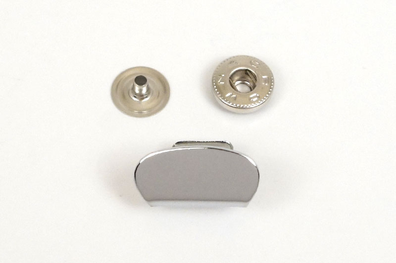 Purse Closure Snap -Nickel-