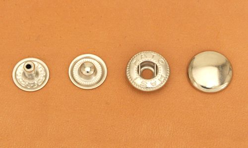 (B6)Spring Snap Fastener Solid Brass - Large - Nickel