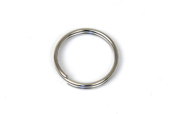 Double Split Key Ring - 15 mm - Nickel