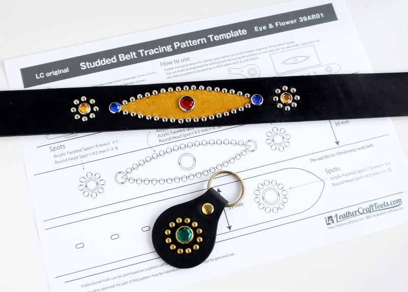 LC Original Studded Belt Tracing Pattern Template.
