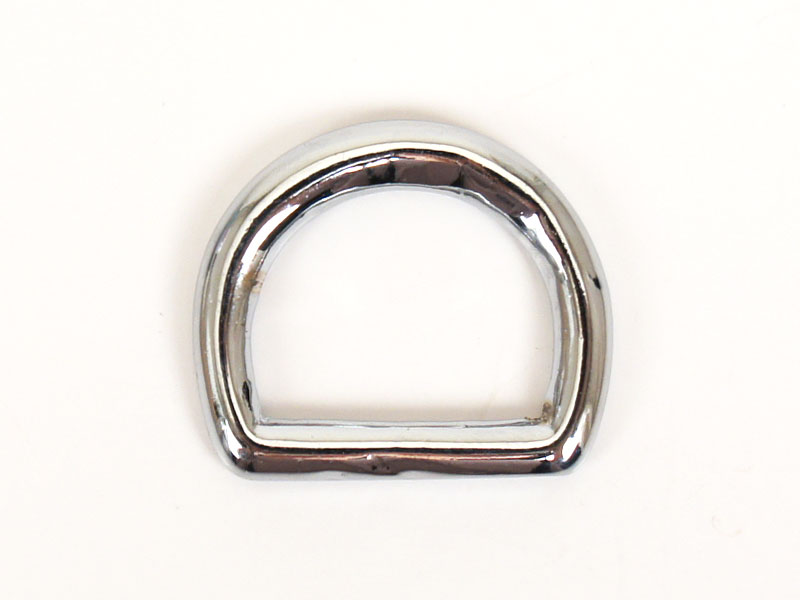 Dog Collar D-Ring 20 mm <Solid Brass Nickel Plated>
