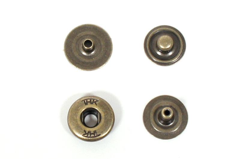 THK Spring Snap Fastener Brass <Hidden Cap Type> - Antique -