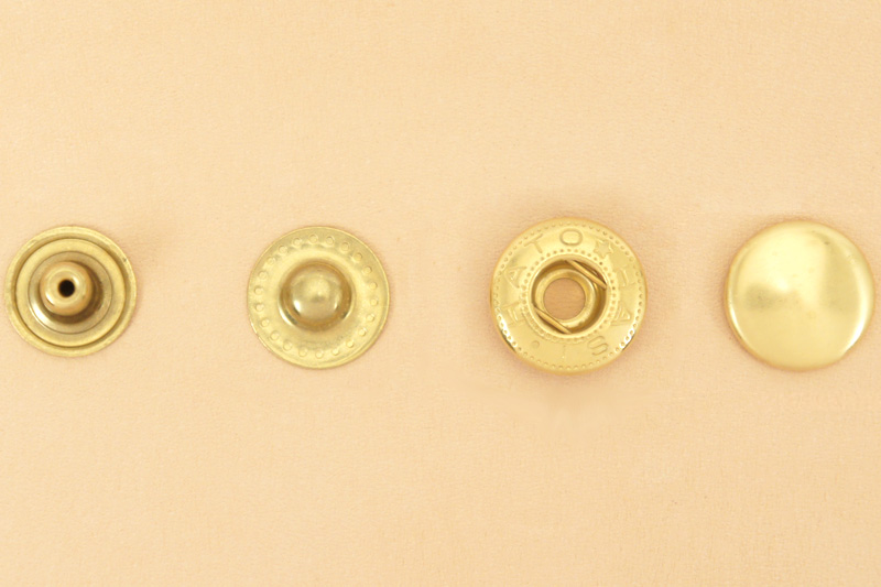 (B12) Spring Snap Fastener Solid Brass - Extra Large