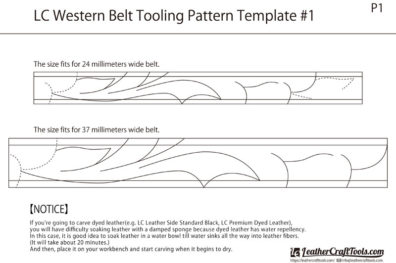 LC Western Belt Tooling Pattern Template #1