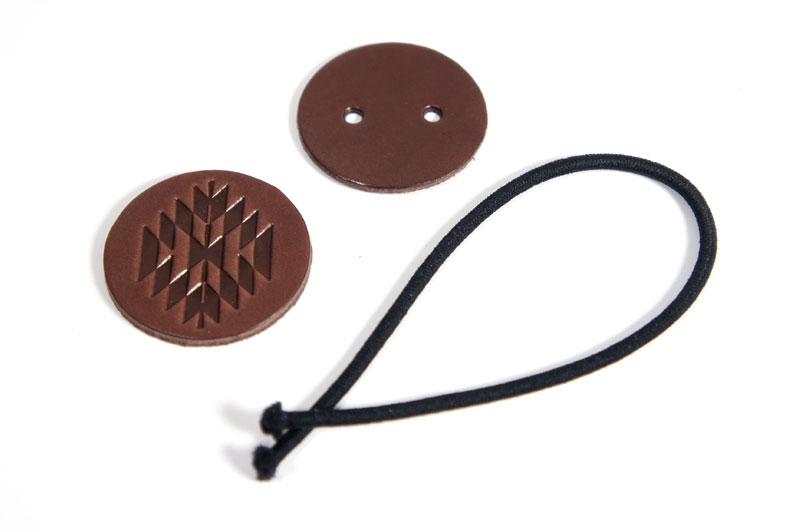 Hair Elastic Kit <Ortega Pattern> - LC Tooling Leather Standard