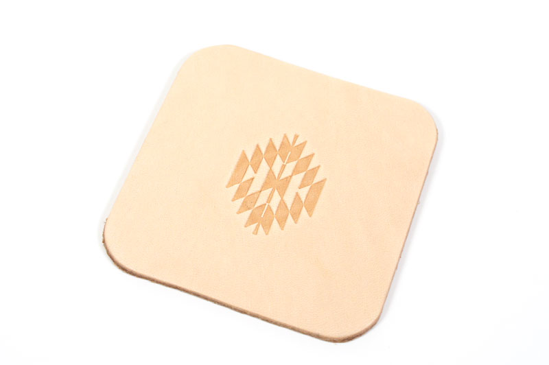 Leather Coaster <Ortega Pattern> - LC Tooling Leather Standard