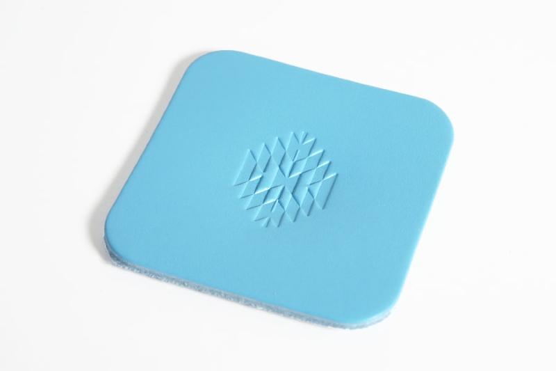 Leather Coaster <Ortega Pattern> - LC Premium Dyed Leather Struck Through