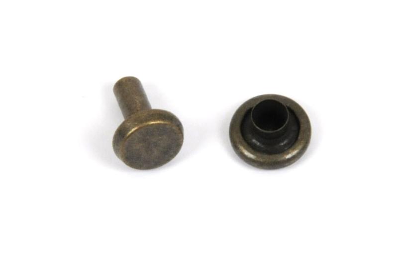 Double Side Capped Tubular Rivet (Large) Antique