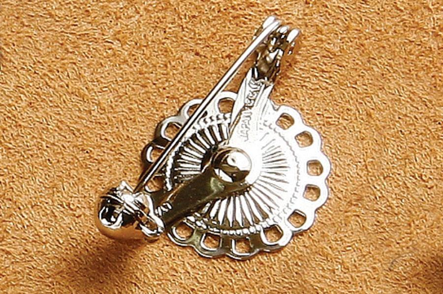 Flower Brooch Pin (5 pcs) - Nickel -