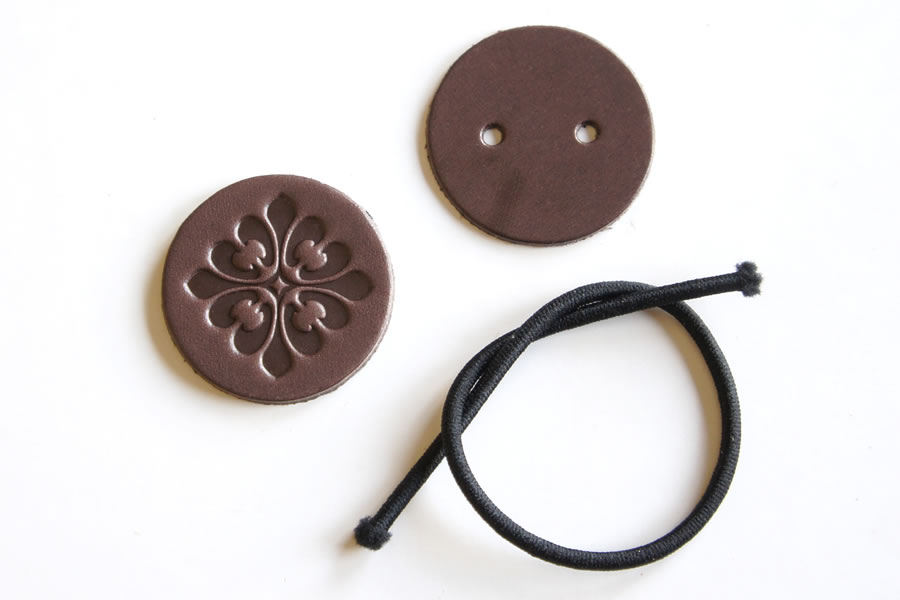 Hair Elastic Kit <Gothic Pattern GF01> - LC Tooling Leather Standard