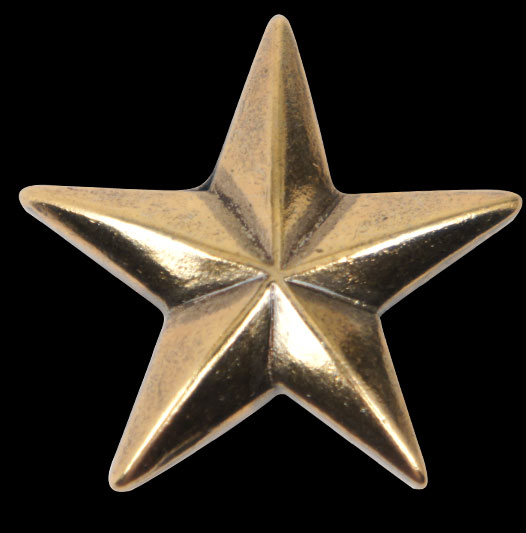 Star Concho - Solid Brass <25 mm>