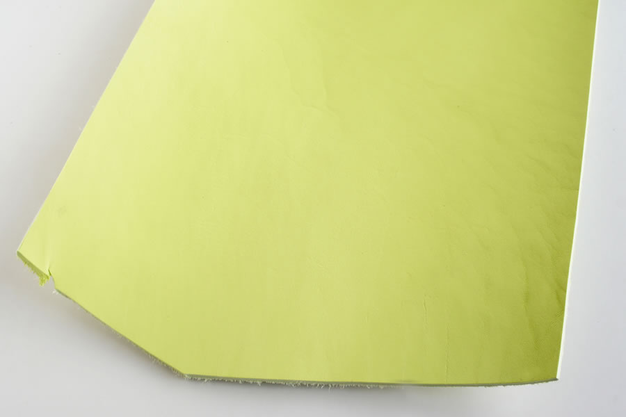 Leather cut in 30cm width, LC Premium Dyed Leather Struck Through <Lime>