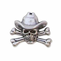 Cowboy Skull & Crossbones Concho