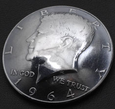 Old Kennedy Half Dollar 1964 Matte Finish (Obverse) <Screw Back>