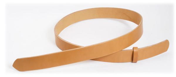 Hermann Oak UK Bridle Leather Belt Blanks H105cm x W3.0cm