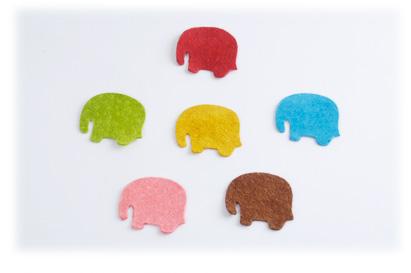 Pig Suede Charm ( Elephant Sideway )