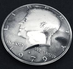 Old Kennedy Half Dollar 1971 Matte Finish (Obverse) <Loop Back>